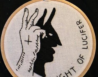 Lucifer Shadow Puppet Embroidery