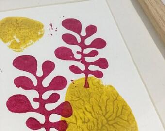 Linocut Nature 3 - original illustration