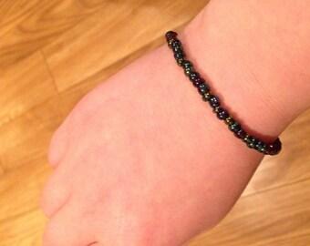 Oil Spill Beaded Bracelet