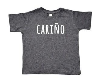 Cariño/Cariña Toddler Short-Sleeve Tee, Baseball Tee, & Onesie | Spanish Baby Nickname