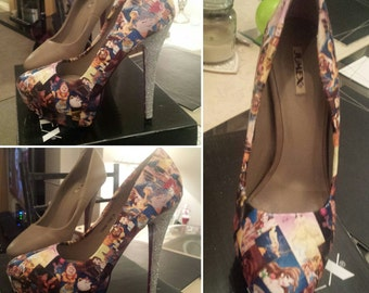 disney inspired shoes with glitter heel