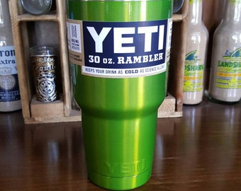 Powder Coated YETI Rambler 30oz - Psycho Green