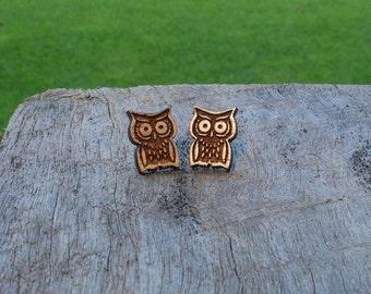 Owl Timber Earrings