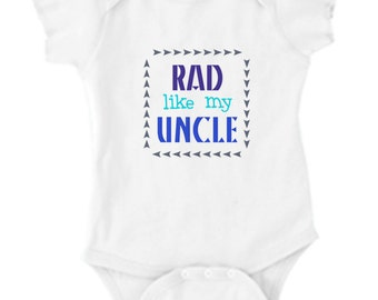 BABY UNCLE, baby clothes, newborn clothes, uncle shirt, uncle tshirts, uncle, rad uncle clothes, baby boy clothes, baby boy gifts, newborn