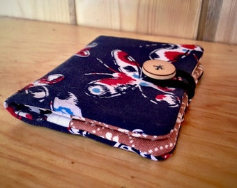 ID Wallet with vintage and upcycled material