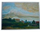 "Landscape Painting - Original Acrylic Painting - 10x14"" - Nature"