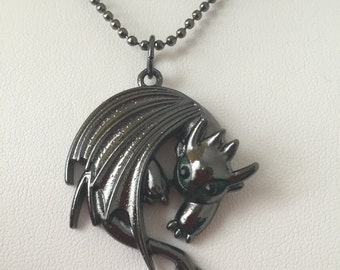 How to train your dragon night fury toothless sausage how to train your dragon 2 toothless night fury pendant necklace ccuart Gallery