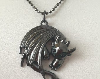 How to train your dragon 2 Toothless Night Fury Pendant Necklace