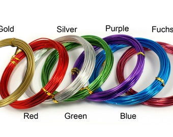 Aluminum Colorful Craft Wire 12GA/2MM Thickness 10YDS Long Jewelry Floral