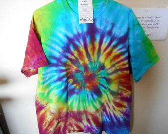 100% cotton Tie Dye T-shirt MMXL37 size XL