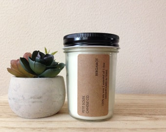 BERGAMOT | 6OZ SOY CANDLE - essential oil