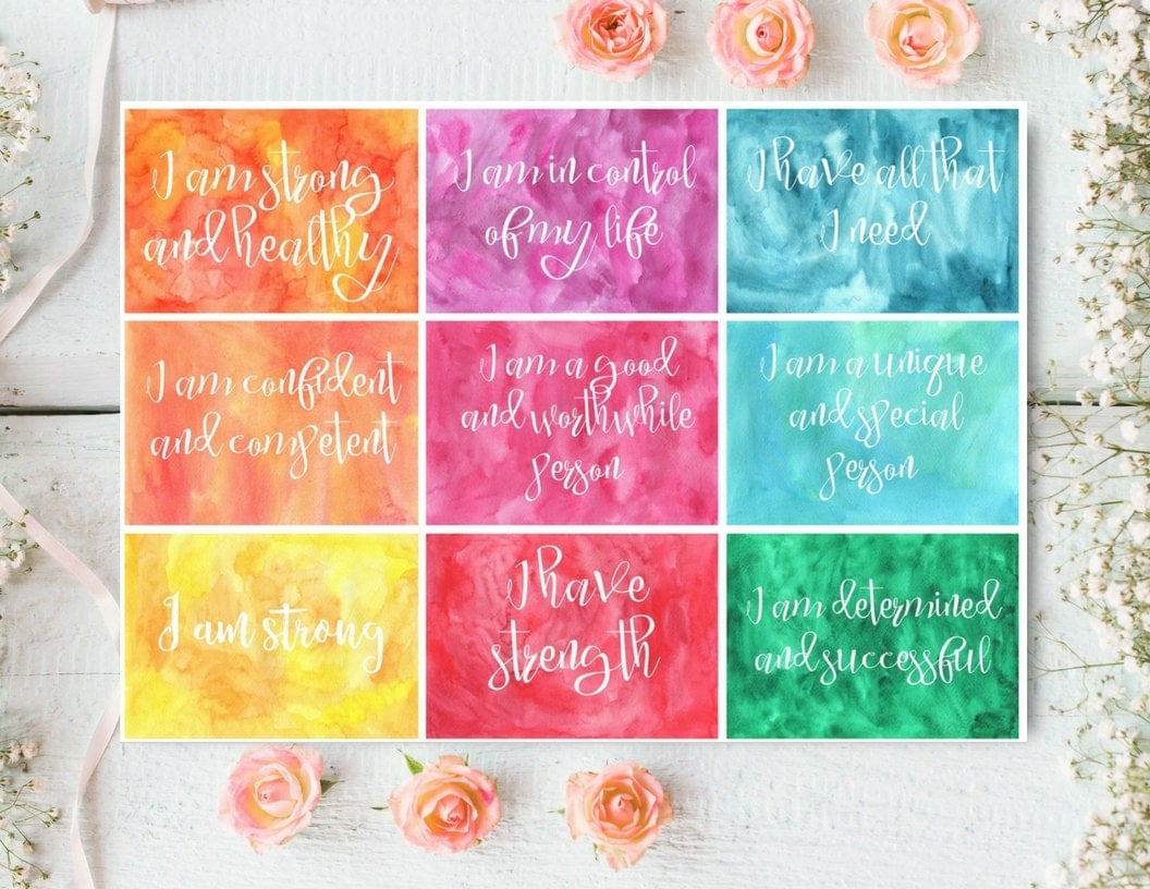 This is an image of Lucrative Affirmation Cards Printable
