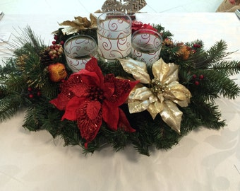 Holiday Centerpiece Candle Holder