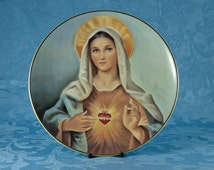 """Royal Doulton """"Madonna of the Sacred Heart"""" Decorative Plate by Barzoni for Franklin Mint"""