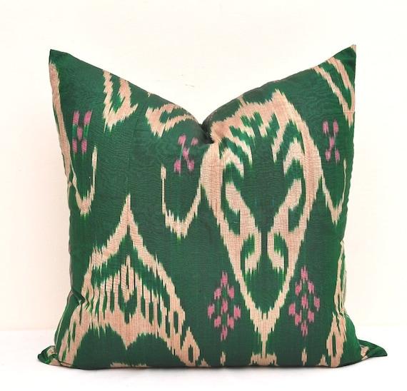 Green Ikat Throw Pillow : Green Throw Pillows Ikat Pillow Green Ikat Pillows Ikat