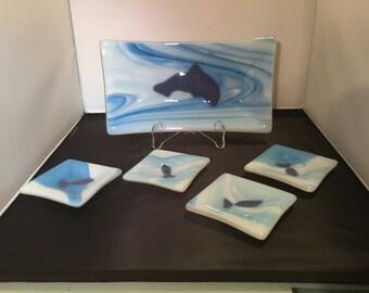 Fused Glass Art - Sushi set