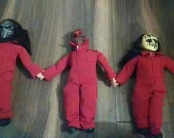 Slipknot Figures, Mick Thompson, Chris Fehn, Joey handmade.