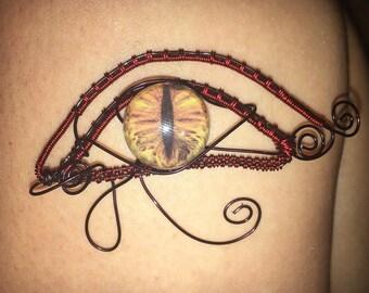 Eye of horus wire wrap