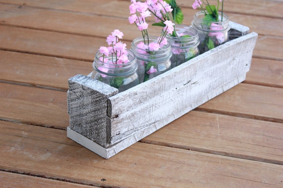 Reclaimed wood Pallet box white wash color rustic handmade