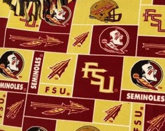 READY TO SHIP Florida State Seminoles Knotted Fleece Throw with Antipill Backing