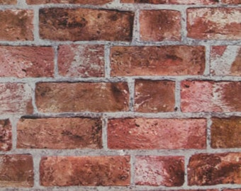 Realistic Embossed Red Brick HE1044 Wallpaper - Sold by the Yard