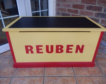 Letters & Numbers Box with a chalkboard lid.