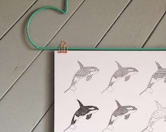 Geometric Orca Print