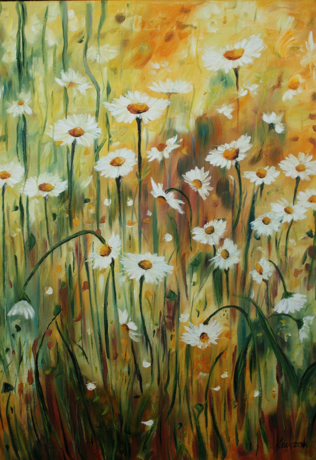 Original Oil Art Margaret s Flowers Oil Painting Art