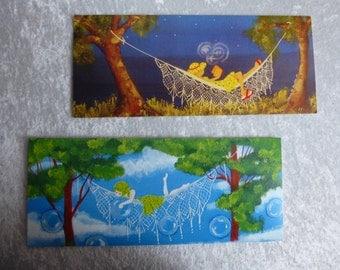 """2 cards """"Hammocks"""""""