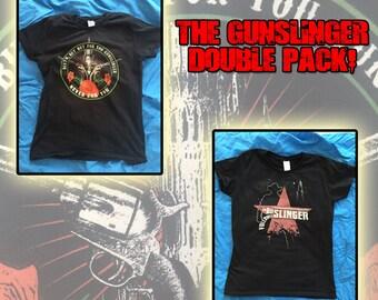 Stephen Kings Dark Tower - The Gunslinger double pack! - Both the nameless city apparel Gunslinger shirts in one pack.
