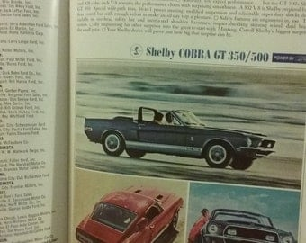 Original 1968 Shelby GT 350/500 Color Ad Intact In May 1968 Issue Of Playboy Magazine