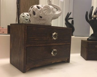 Two Drawer Custom Vintage Jewelry Box