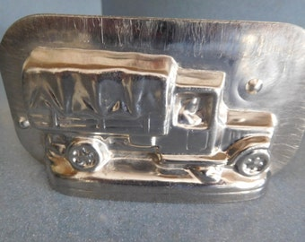 WW1 Army Truck by Vormenfabriek #15371 Vintage Metal Candy Mold
