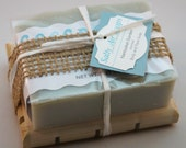 Nantucket Garden scented Handmade Soap and Wooden Soap Plank
