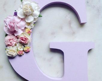 Flower letters, floral letters, nursery decor
