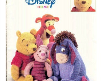 Pooh & friends crochet patterns, winnie the pooh, eeyore pattern, soft toy pattern, teddy bear pattern, tigger soft toy, piglet pattern, PDF