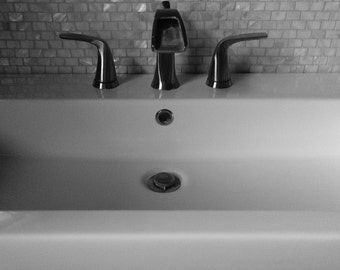 Trough Sink- 8 x 10 inch  10 x 12 inch  11 x 14 inch  16 x 20 inch  20 x 24 inch  photo on canvas ready to hang