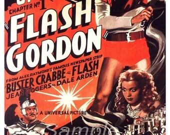 Vintage Flash Gordon The Planet of Peril Movie Poster Print