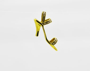 Antique Gold Shoe pendant, 10k Gold Shoe Pendant, Gold Jewelry