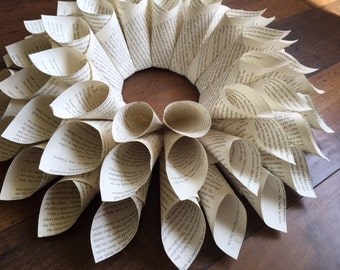 Upcycled Paper Dahlia Centerpiece