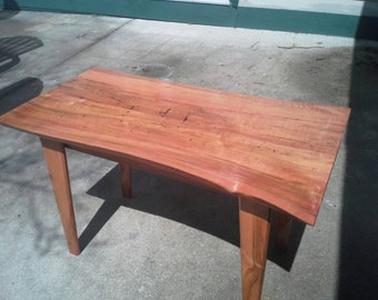 Hand made beautiful live edge red maple end table