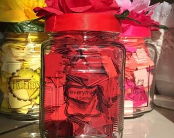 Square quote/ inspirational jars