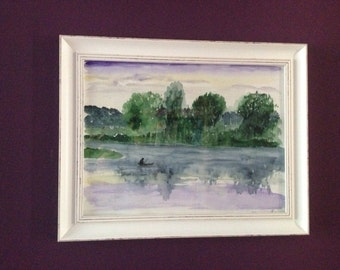 Morning mood on the Havel original watercolor