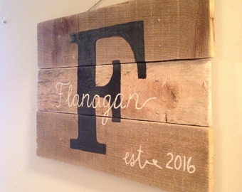 Personalized Letter Sign