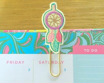 Dream Catcher Planner Paper Clip!  Cute Planner Paperclip Pastel Planner Accessory Back To School Bookmark Stationery