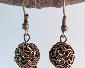 Wire Earrings handmade jewelry, stocking stuffers, christmas gift, holiday gifts