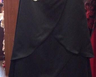 David's Bridal Black Bridesmaid Dress size 14/16