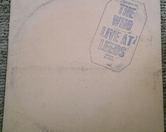 The Who - Live At Leads - DL-79175 - 1970 - 130 gram - Early Release - All Inserts Included - VG+