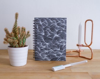 Notebook A6 black spiral