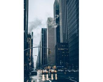 City Digital Photo - New York - Street - NY Photo - Urban Photo - Traffic - Vertical Photo - Digital Photo - Digital Download - Office Decor